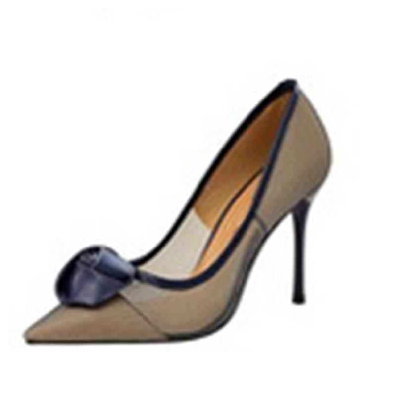 Ericdress Mesh Pointed Toe Stiletto Heel Slip-On Women's Pumps