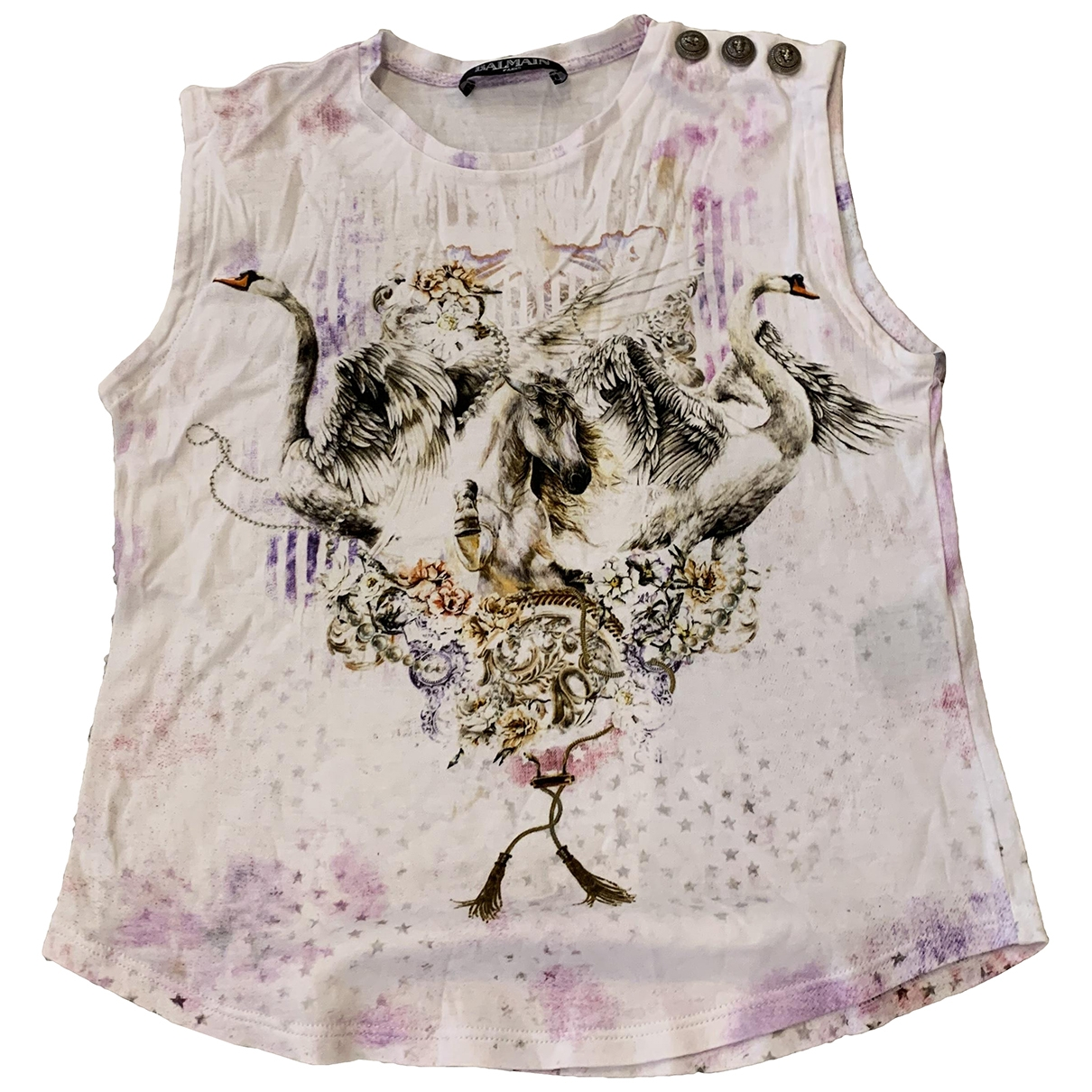 Balmain \N Multicolour Cotton  top for Kids 10 years - up to 142cm FR