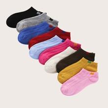 10 pares calcetines unicolor de rayas