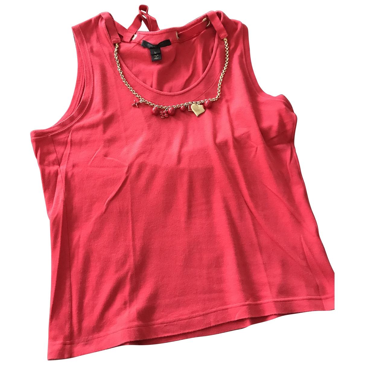 Louis Vuitton - Top   pour femme en coton - rouge