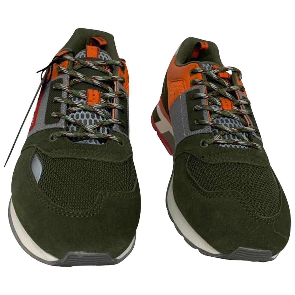 Replay \N Sneakers in  Gruen Veloursleder