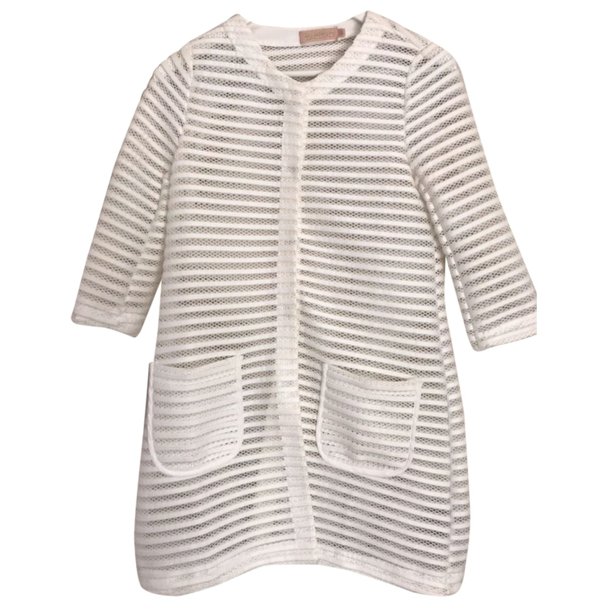 Non Signé / Unsigned \N White jacket for Women 36 FR
