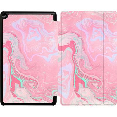 Amazon Fire HD 8 (2018) Tablet Smart Case - Marbled Effect Pink von Emanuela Carratoni