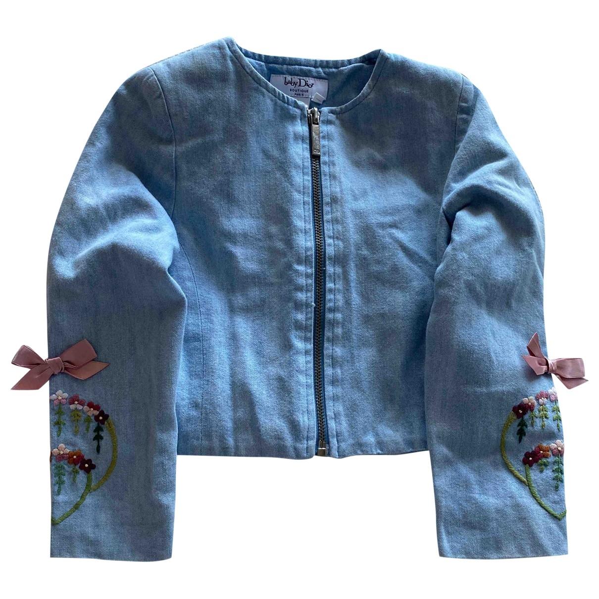 Baby Dior - Blousons.Manteaux   pour enfant en coton - bleu