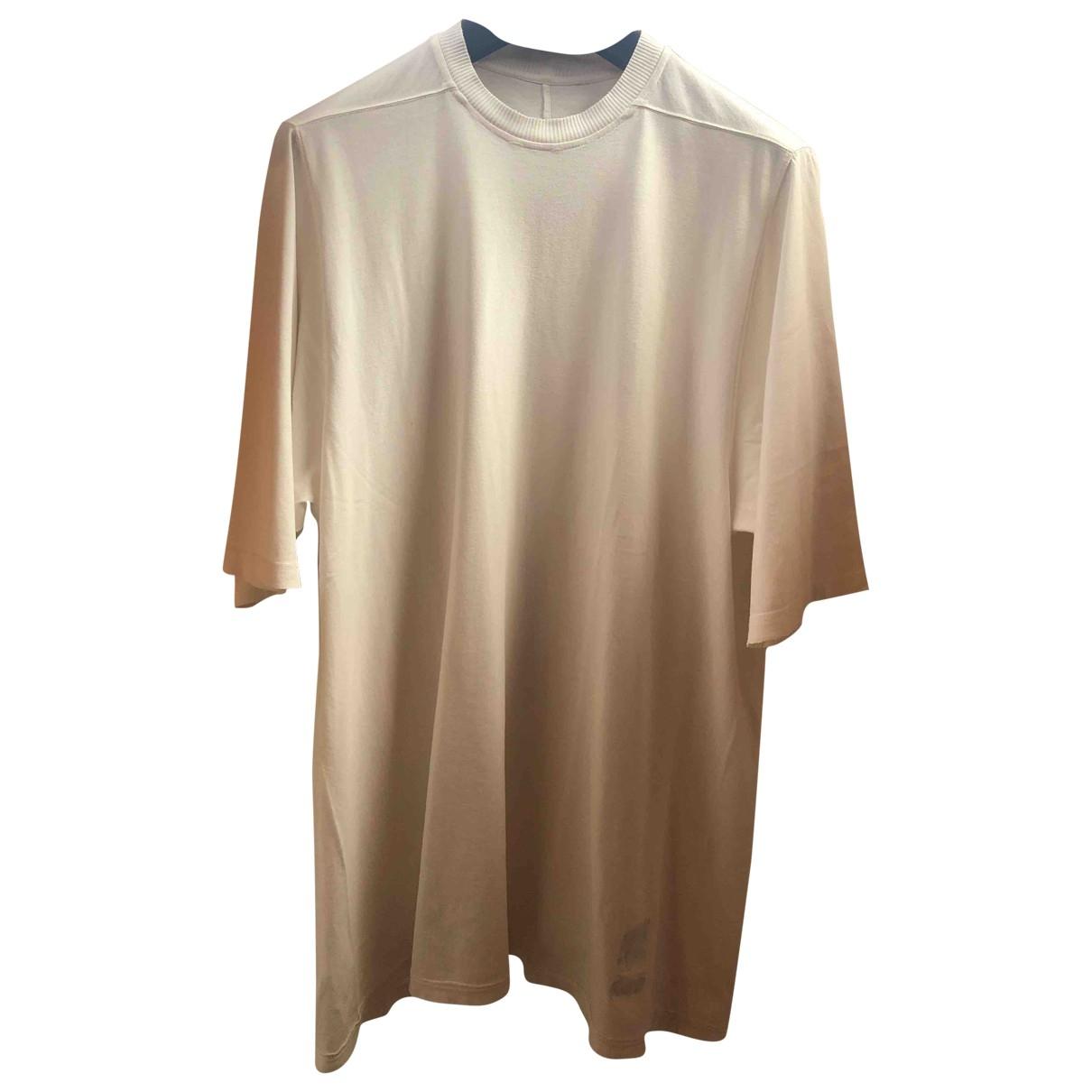 Rick Owens Drkshdw - Tee shirts   pour homme en coton - beige