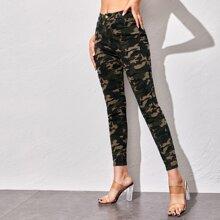 Camo Print Skinny Jeans