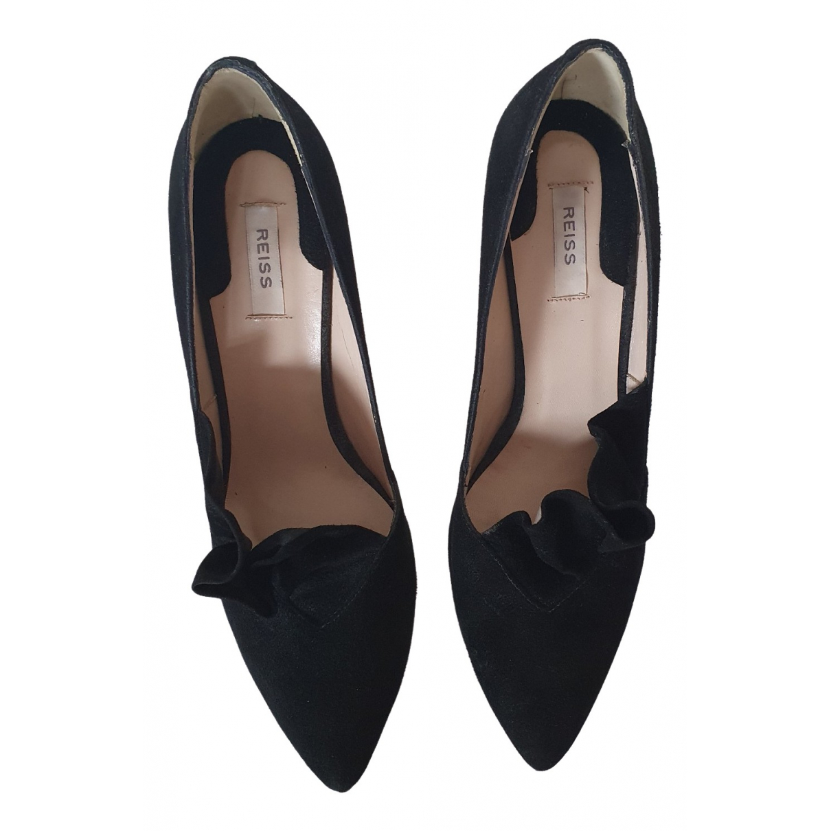 Reiss \N Black Suede Heels for Women 38 EU