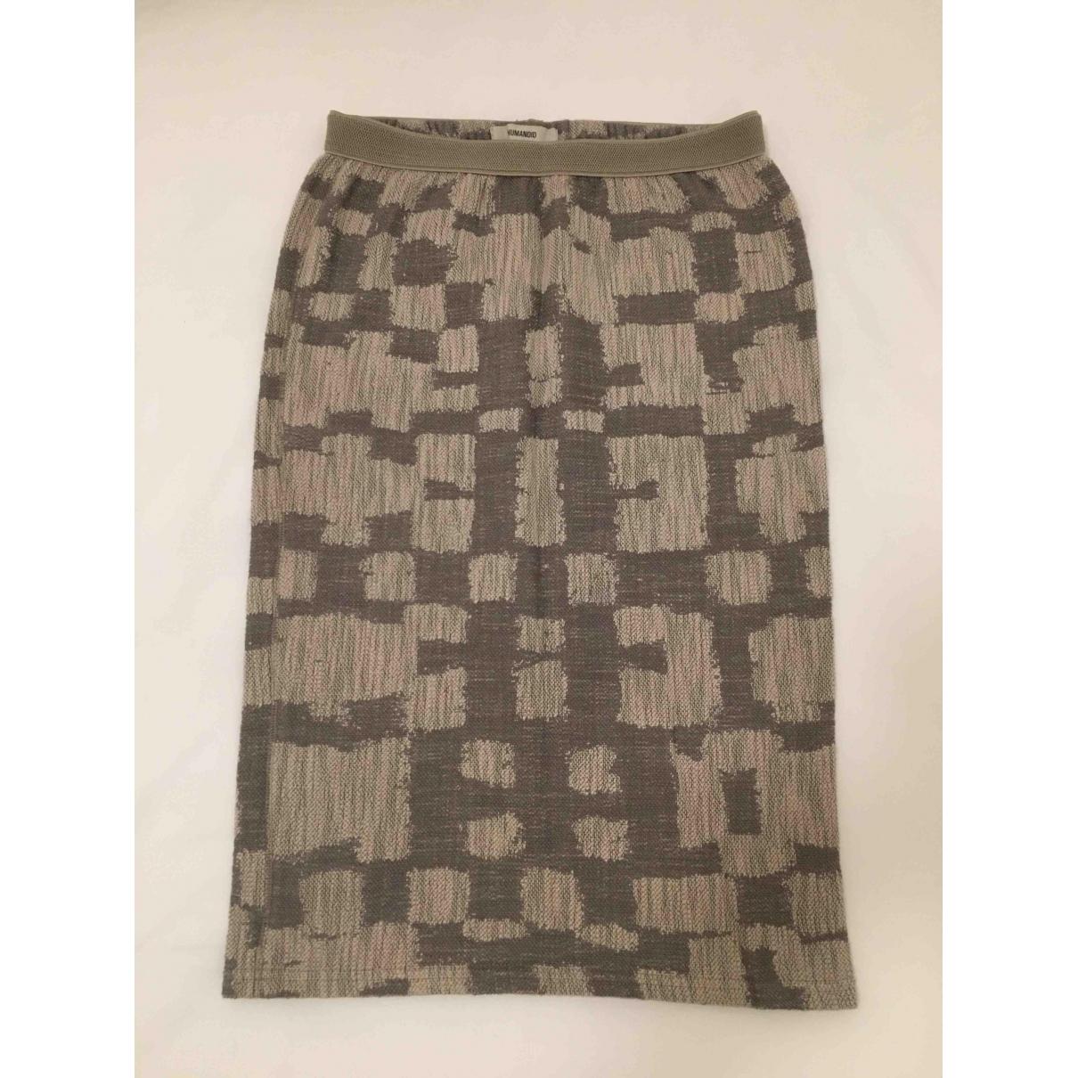 Humanoid \N Grey Cotton - elasthane skirt for Women 38 FR