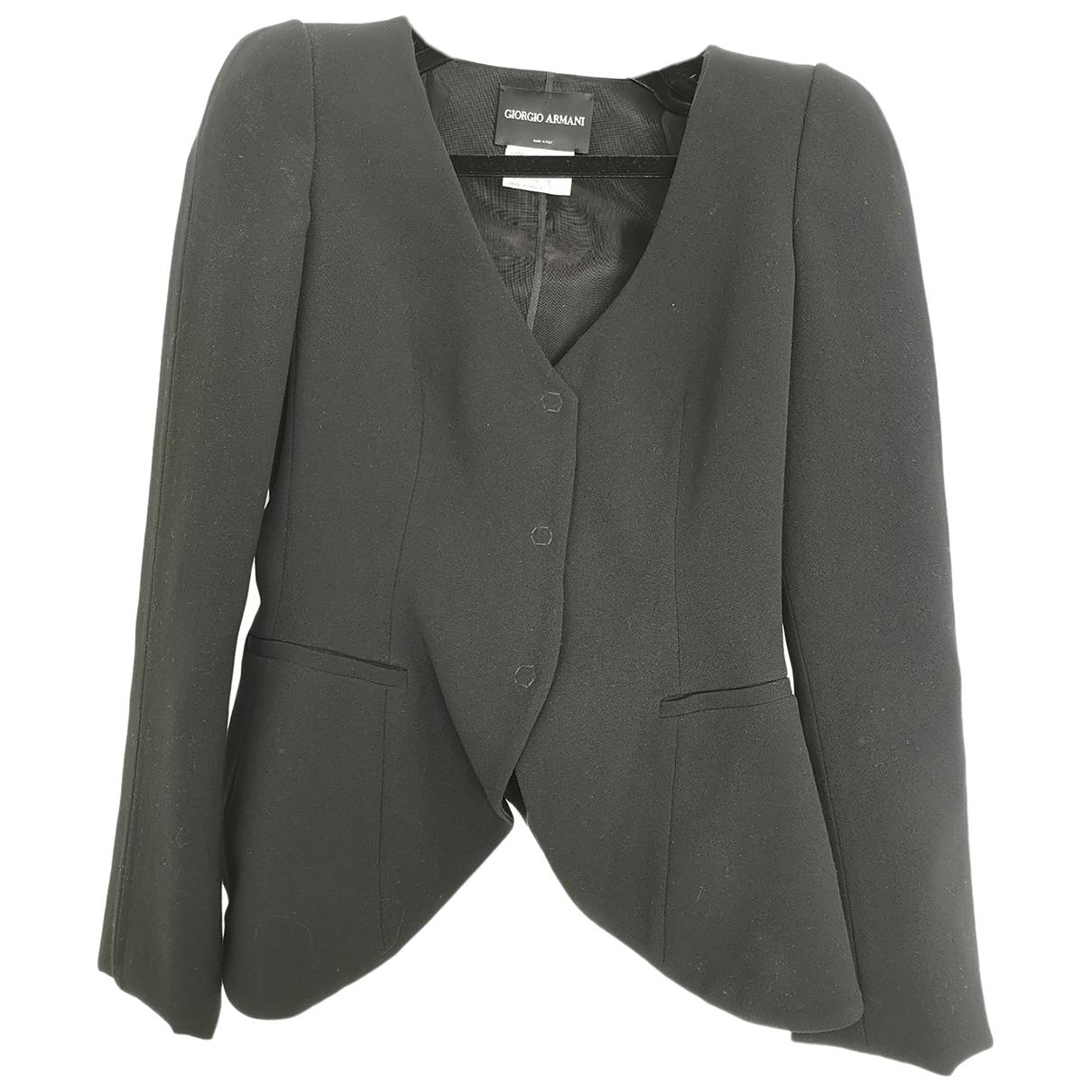 Giorgio Armani \N Black Wool jacket for Women S International