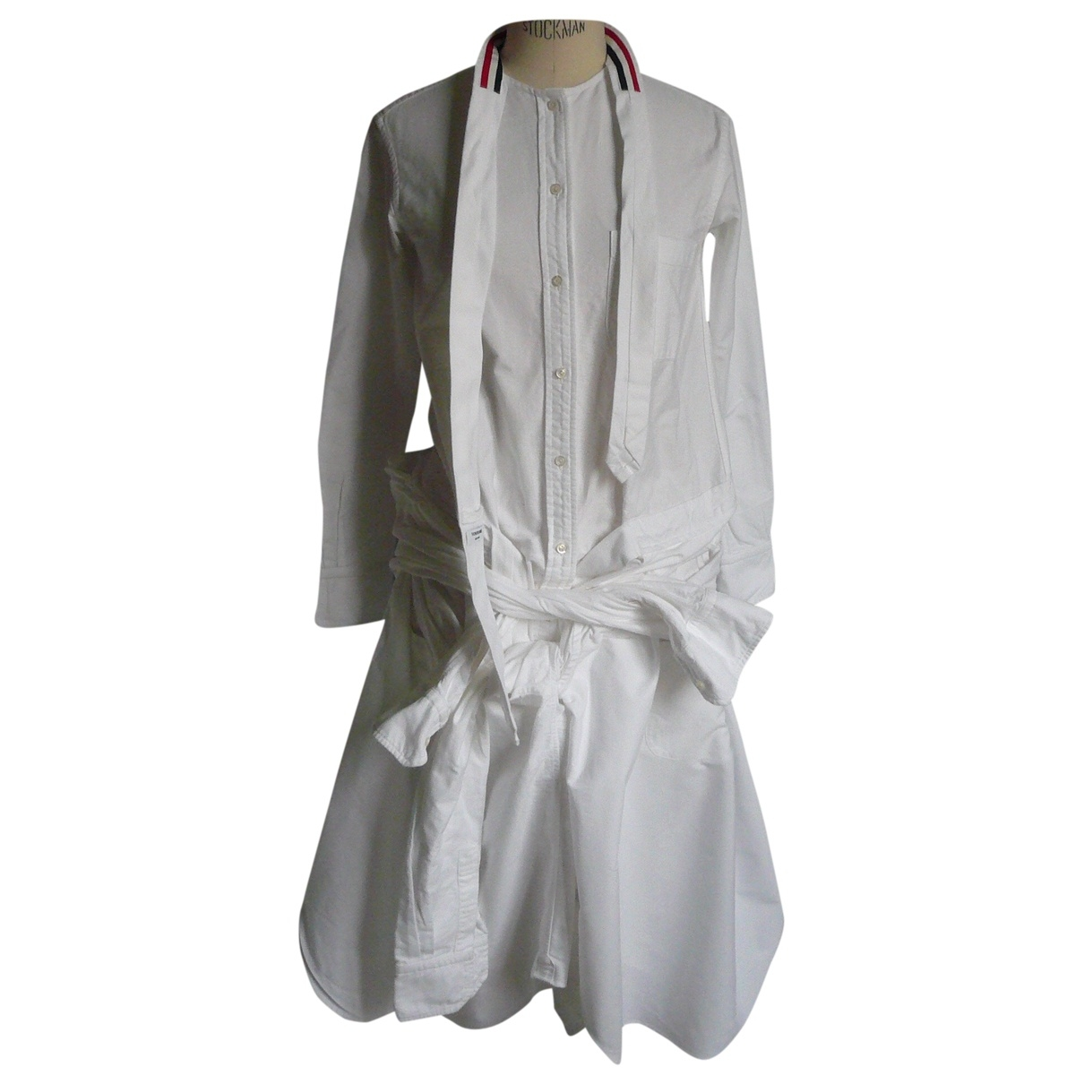 Thom Browne \N White Cotton dress for Women 38 FR