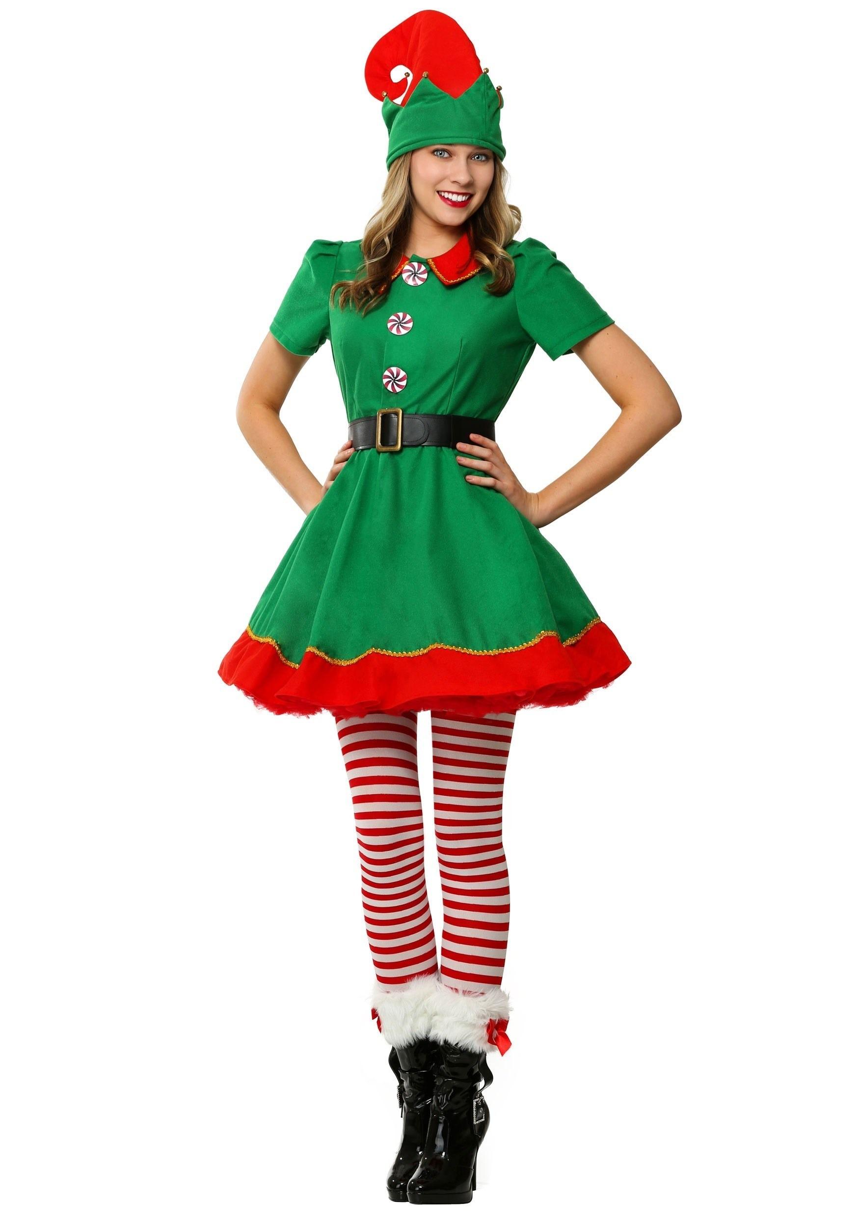 Womens Holiday Elf Costume