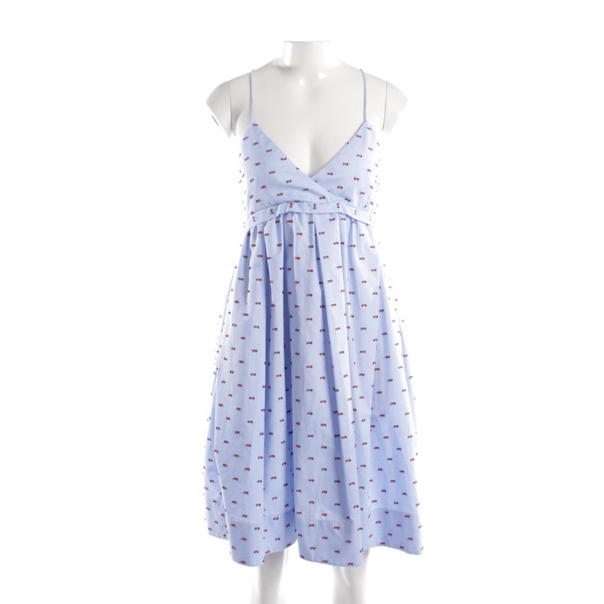 Victoria Beckham \N Blue Cotton dress for Women 34 FR