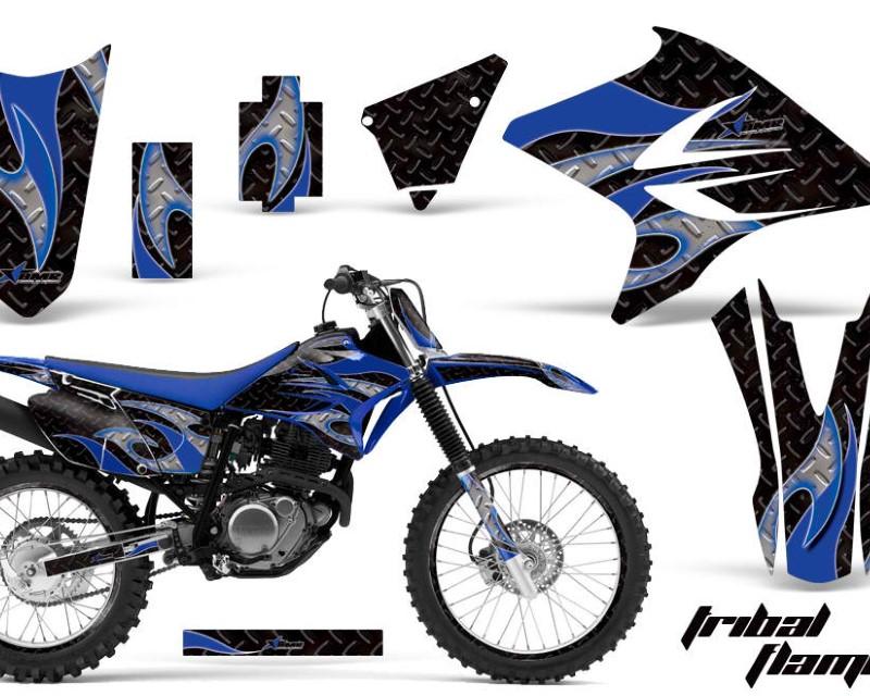 AMR Racing Graphics MX-NP-YAM-TTR230-05-18-TF U K Kit Decal Sticker Wrap + # Plates For Yamaha TTR230 2005-2018 TRIBAL BLUE BLACK