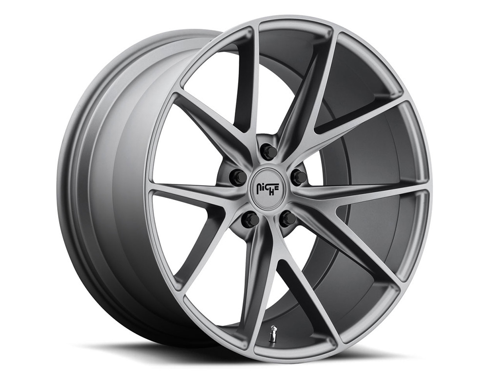 Niche M116 Misano Anthracite 1-Piece Cast Wheel 18x8 5x120 40mm