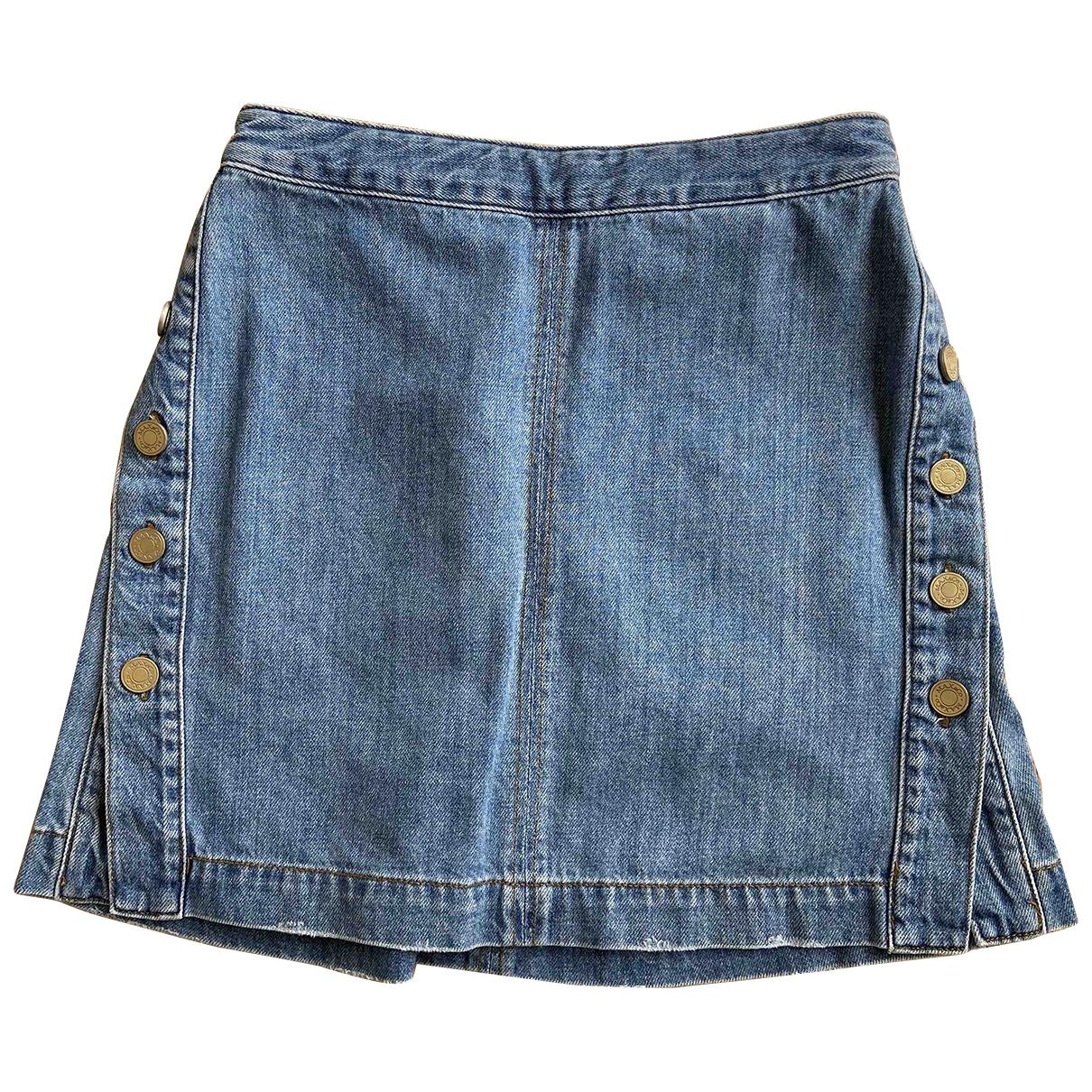 Max & Co \N Blue Denim - Jeans skirt for Women 36 FR