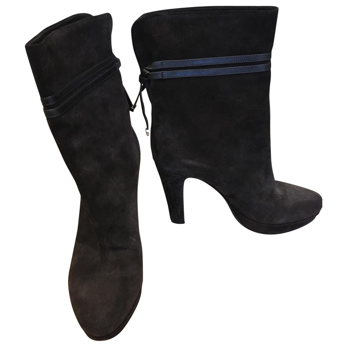 Sergio Rossi \N Brown Suede Ankle boots for Women 38 EU