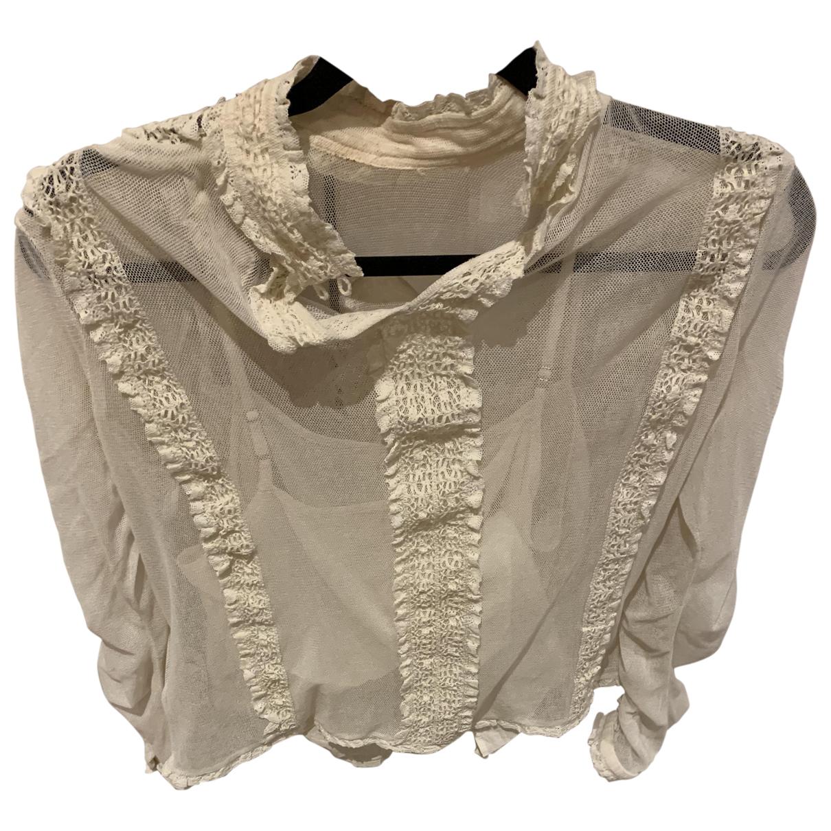 Ralph Lauren Denim & Supply - Top   pour femme en coton - ecru