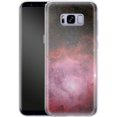 Samsung Galaxy S8 Plus Silikon Handyhuelle - Pink Nebula von caseable Designs