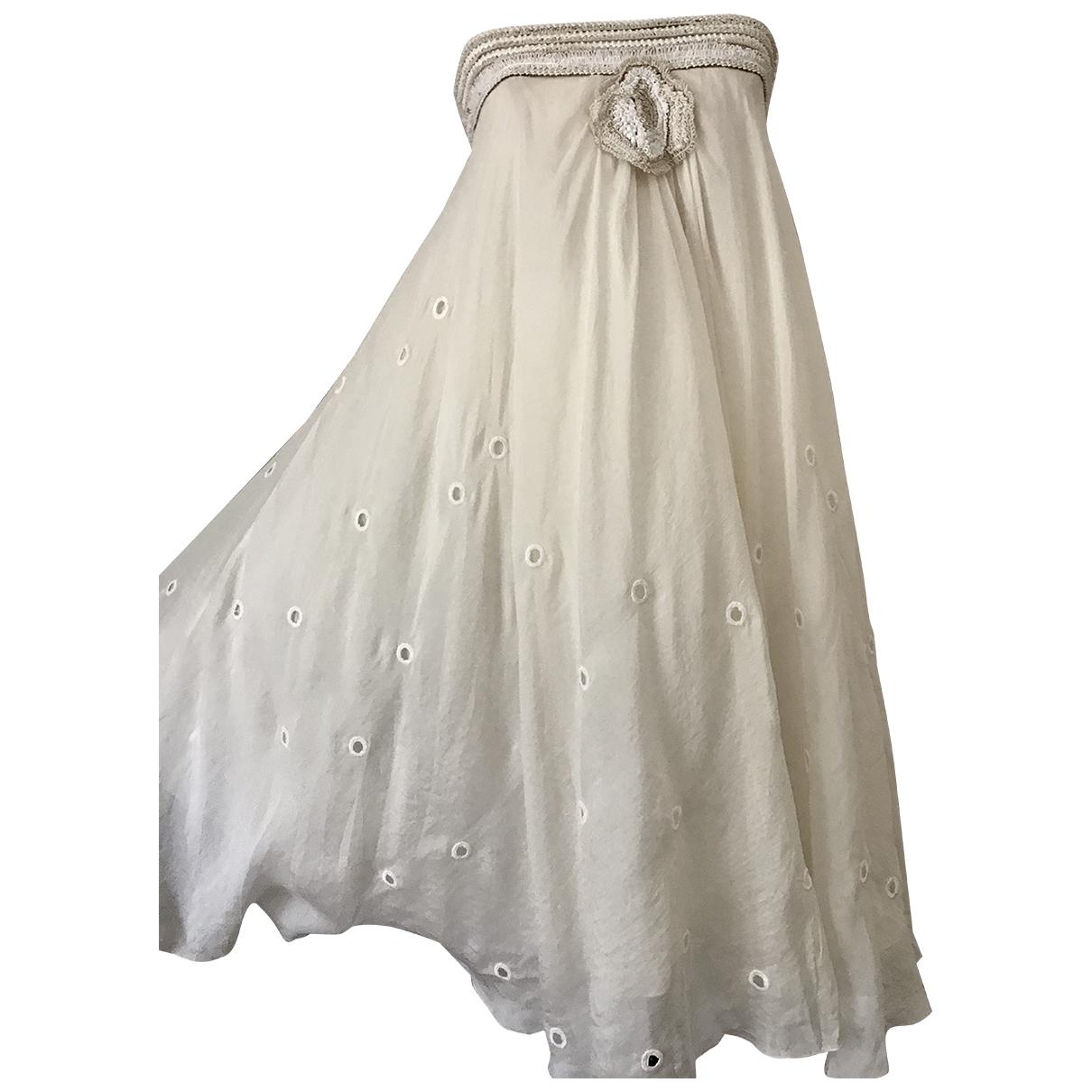 La Perla - Robe   pour femme en soie - ecru