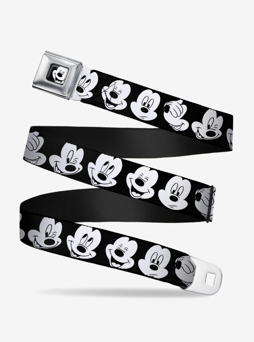 Disney Mickey Mouse Expressions Close Up Youth Seatbelt Belt