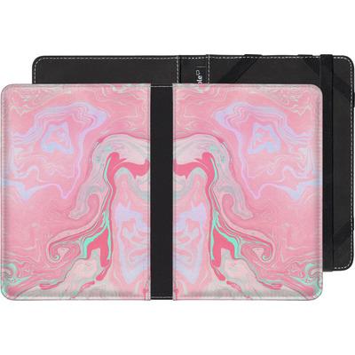Kobo Glo eBook Reader Huelle - Marbled Effect Pink von Emanuela Carratoni