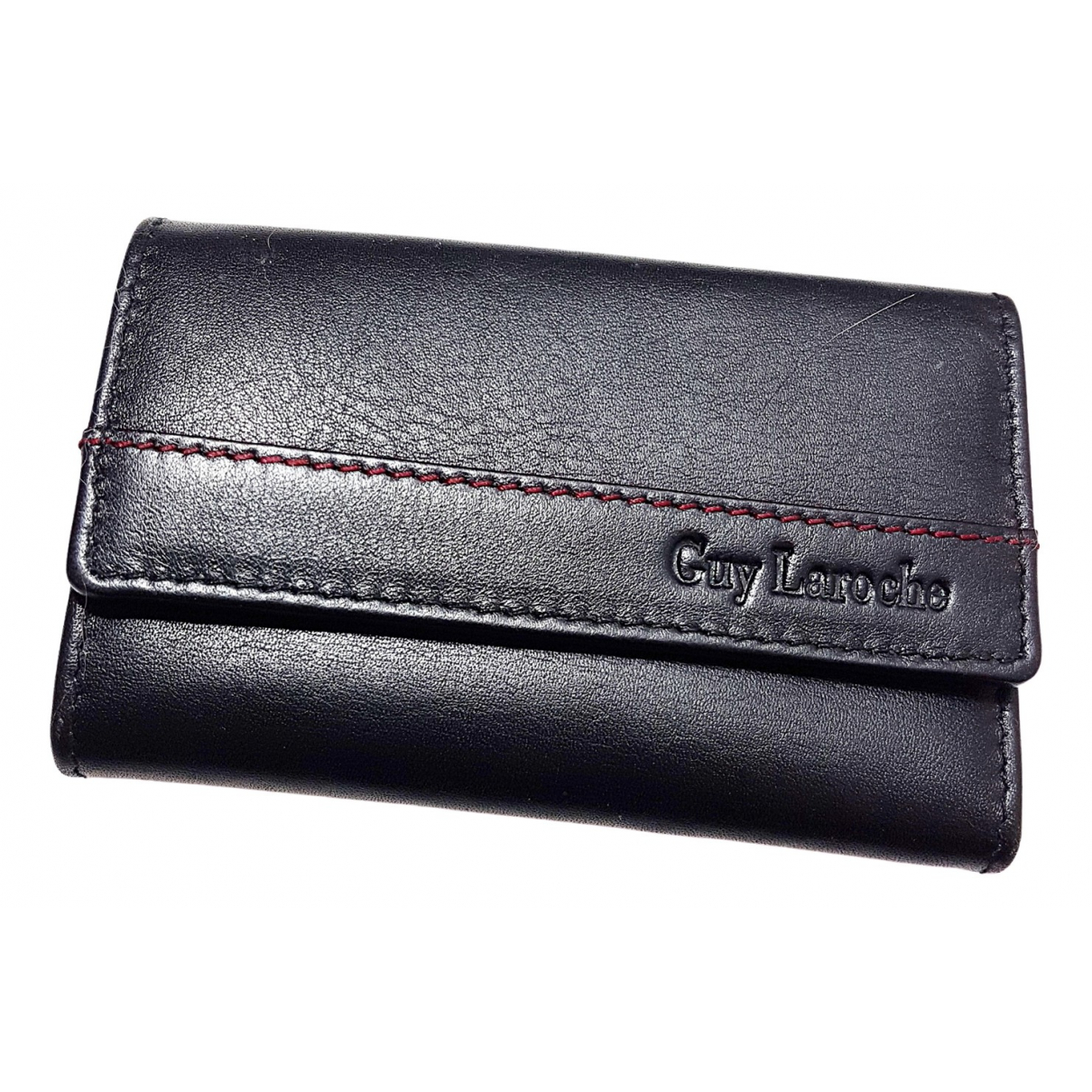 Guy Laroche \N Black Leather Small bag, wallet & cases for Men \N
