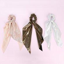 3 Stuecke Schal mit Glitzer Dekor