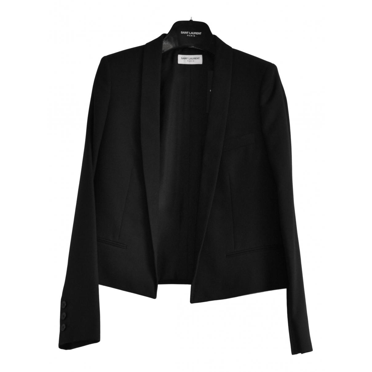 Saint Laurent - Veste   pour femme en laine - noir