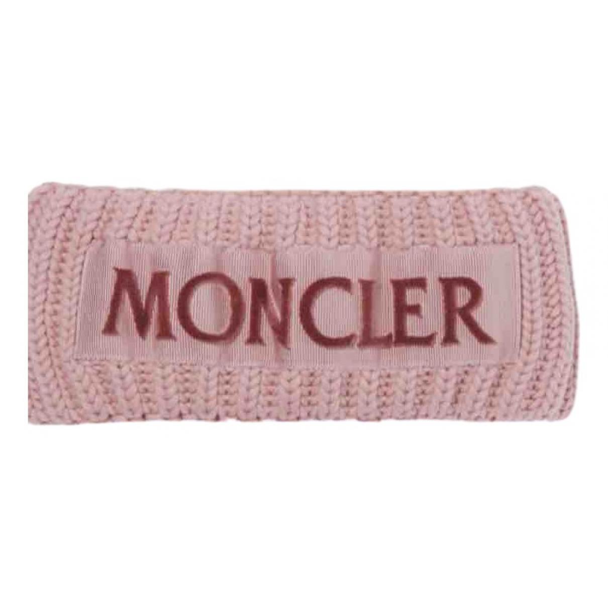 Moncler - Chapeau   pour femme en laine - rose