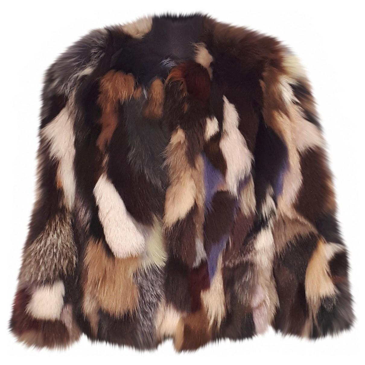 Msgm - Veste   pour femme en renard - multicolore