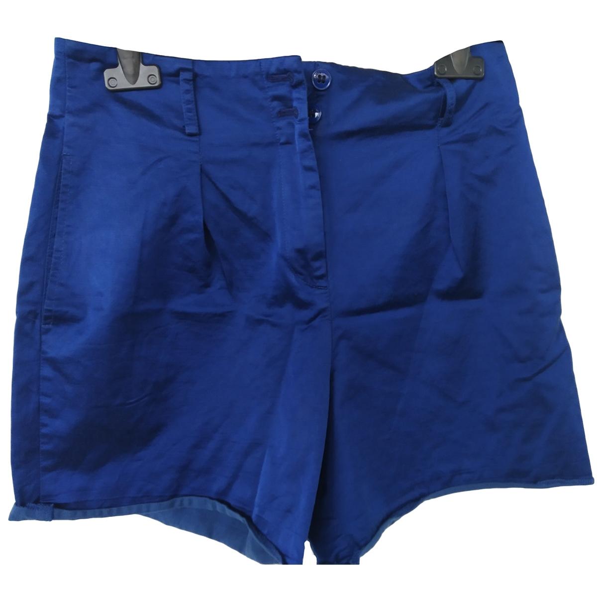 Pinko \N Shorts in  Blau Baumwolle