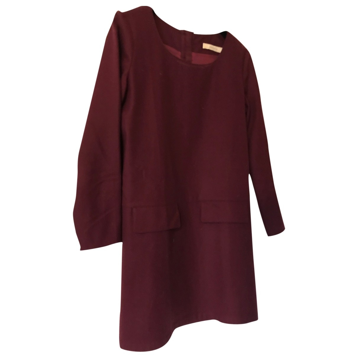 Sessun \N Kleid in  Bordeauxrot Wolle
