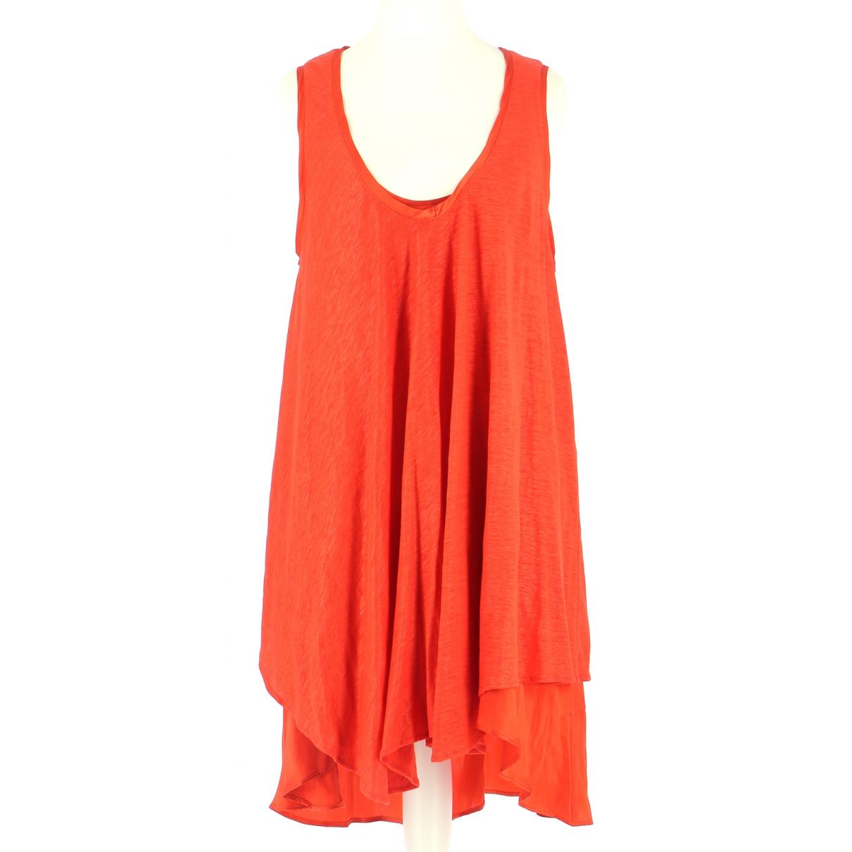 Vanessa Bruno \N Kleid in  Orange Leinen