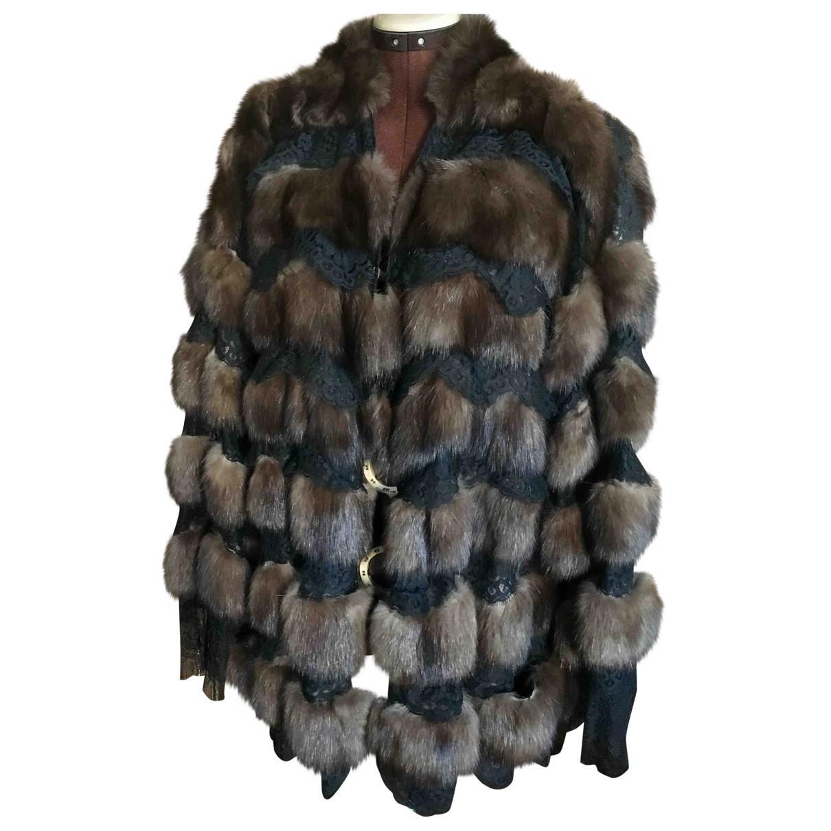 Gianfranco Ferre - Manteau   pour femme en fourrure - marron
