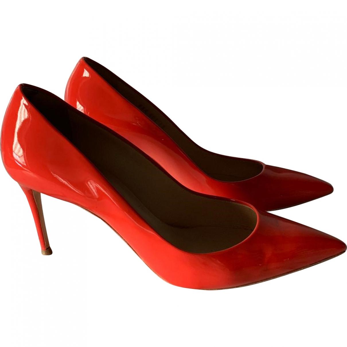Casadei \N Orange Patent leather Heels for Women 39 EU