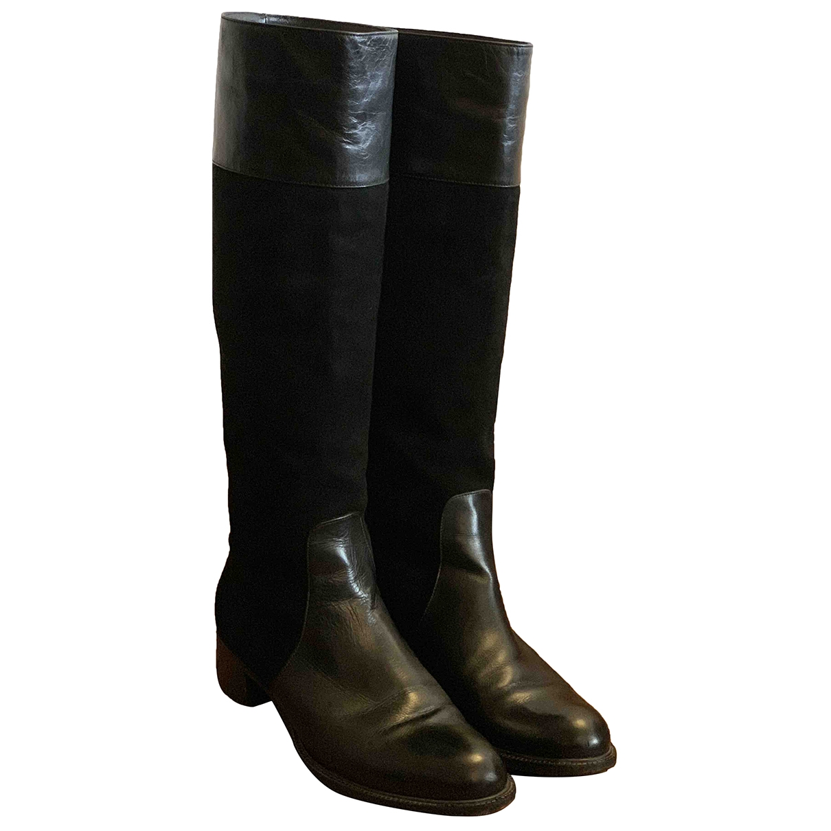 Casadei \N Black Leather Boots for Women 9 US