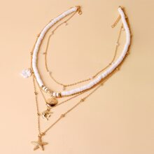 Halskette mit Seestern Anhaenger