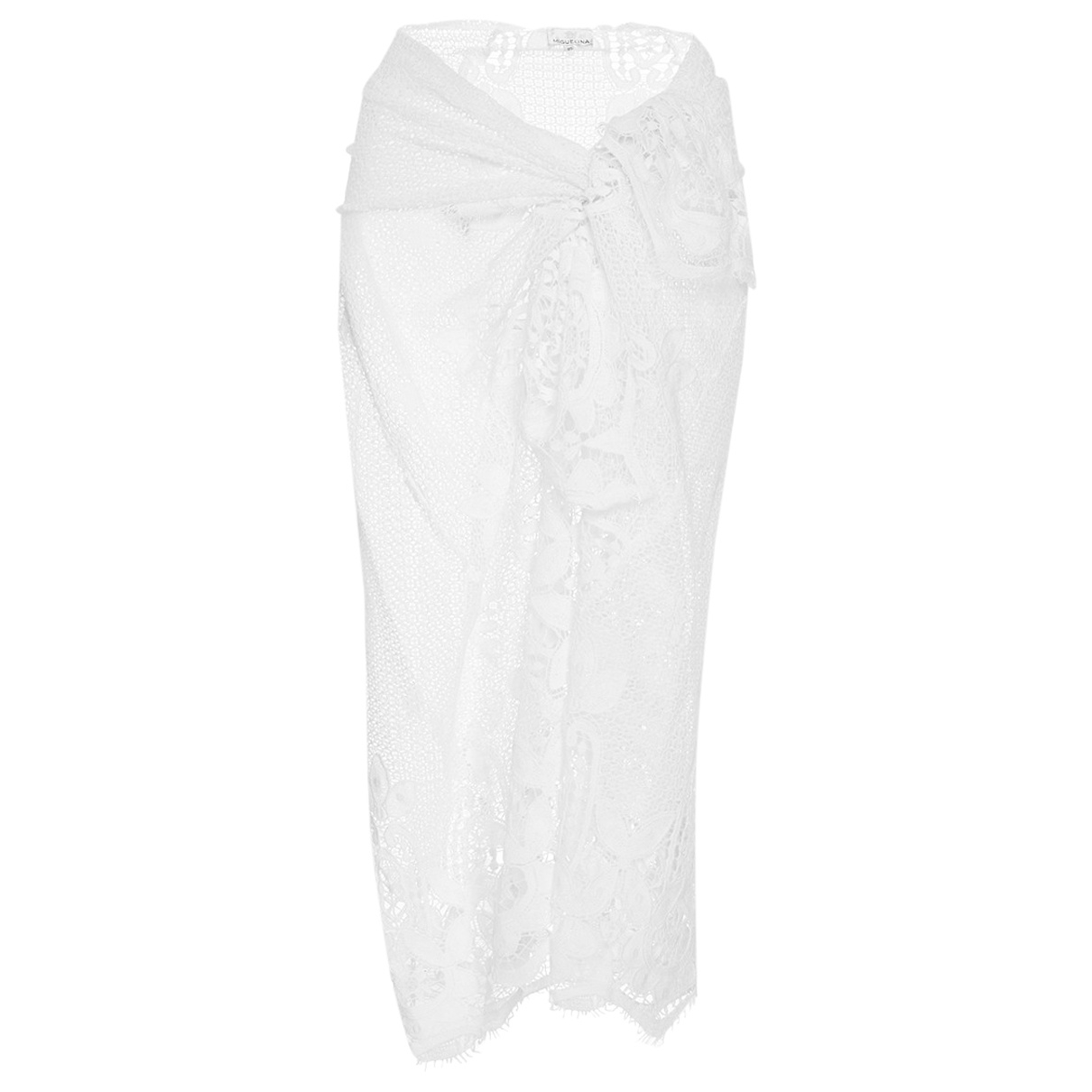 Miguelina \N White Cotton skirt for Women One Size International