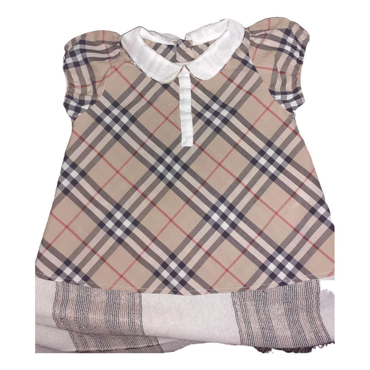 Burberry \N Beige Cotton dress for Kids 12 months - up to 74cm FR