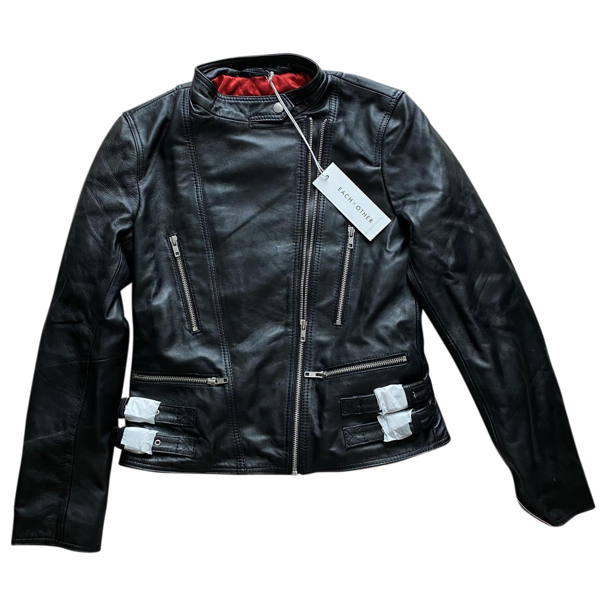 Each X N Black Leather jacket for Women S International
