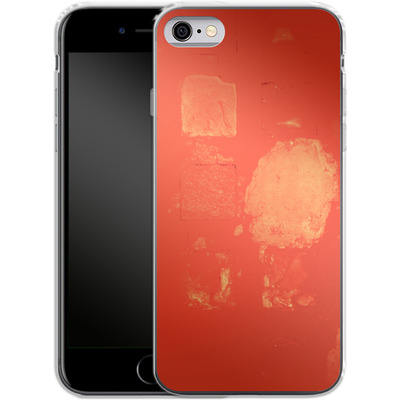 Apple iPhone 6s Silikon Handyhuelle - Red Block Background von Brent Williams