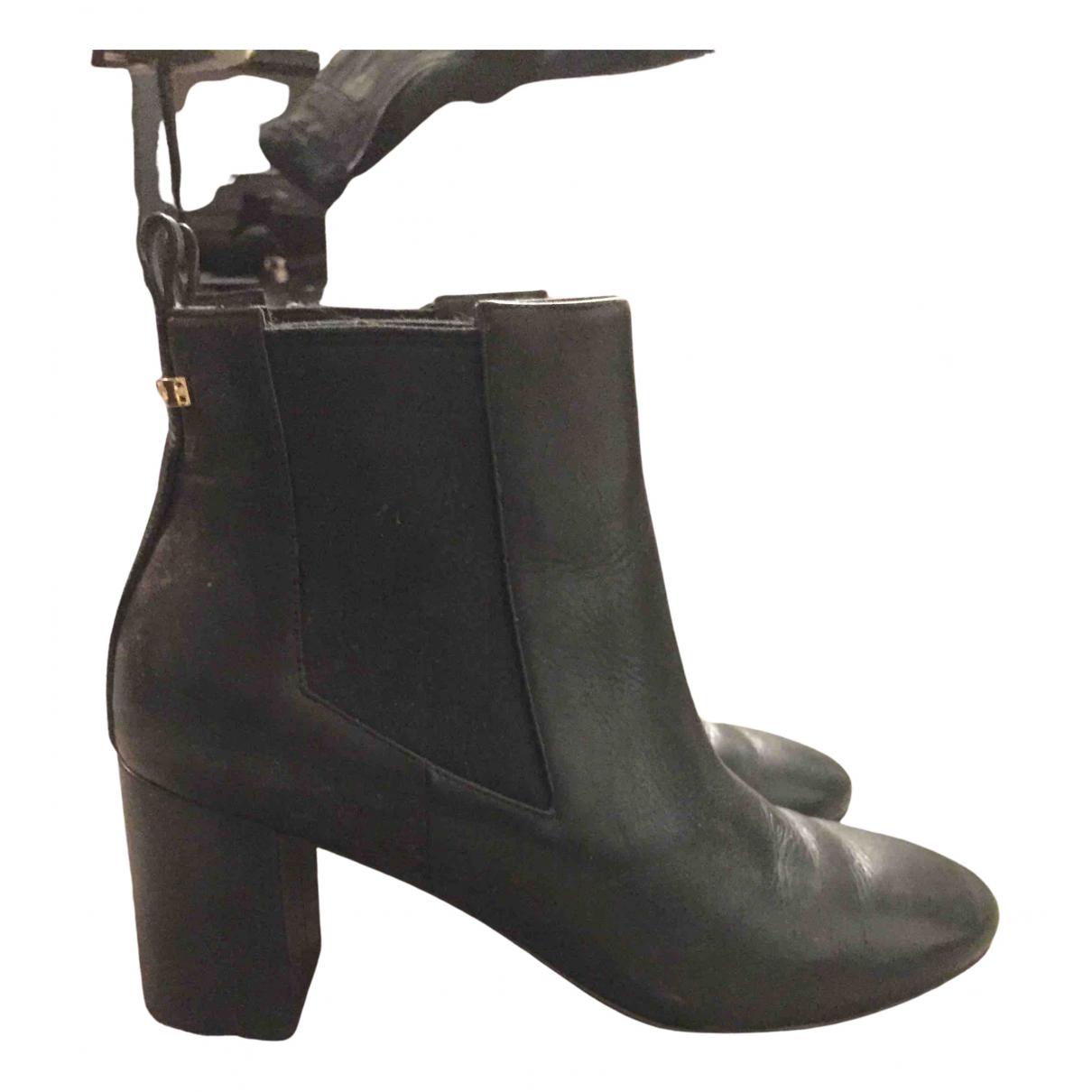 Cole Haan - Boots   pour femme en cuir - noir
