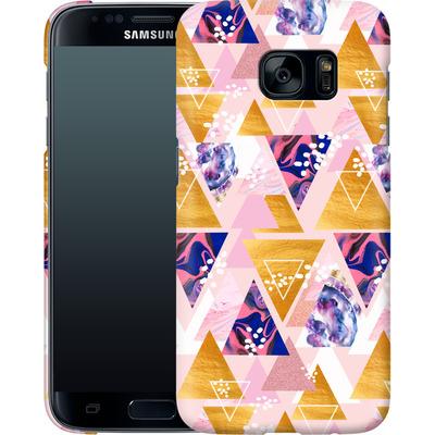 Samsung Galaxy S7 Smartphone Huelle - Blush GEO von Mukta Lata Barua