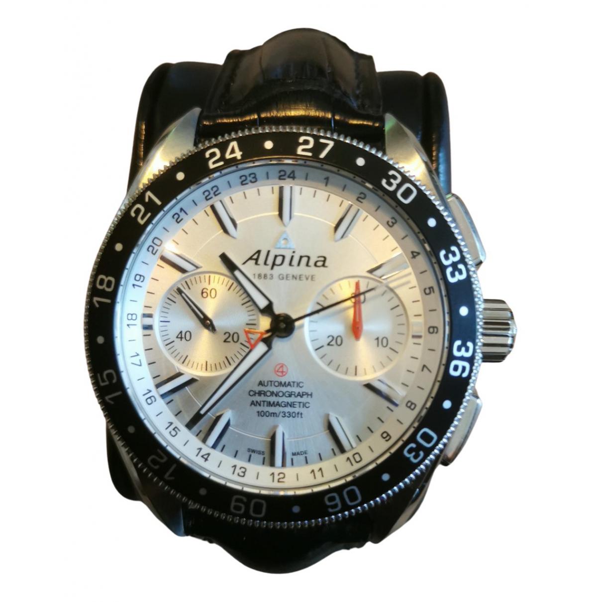 Alpina - Montre Alpiner Chronograph 4 pour homme en acier - argente