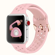 1pc Solid Silicone iWatch Band