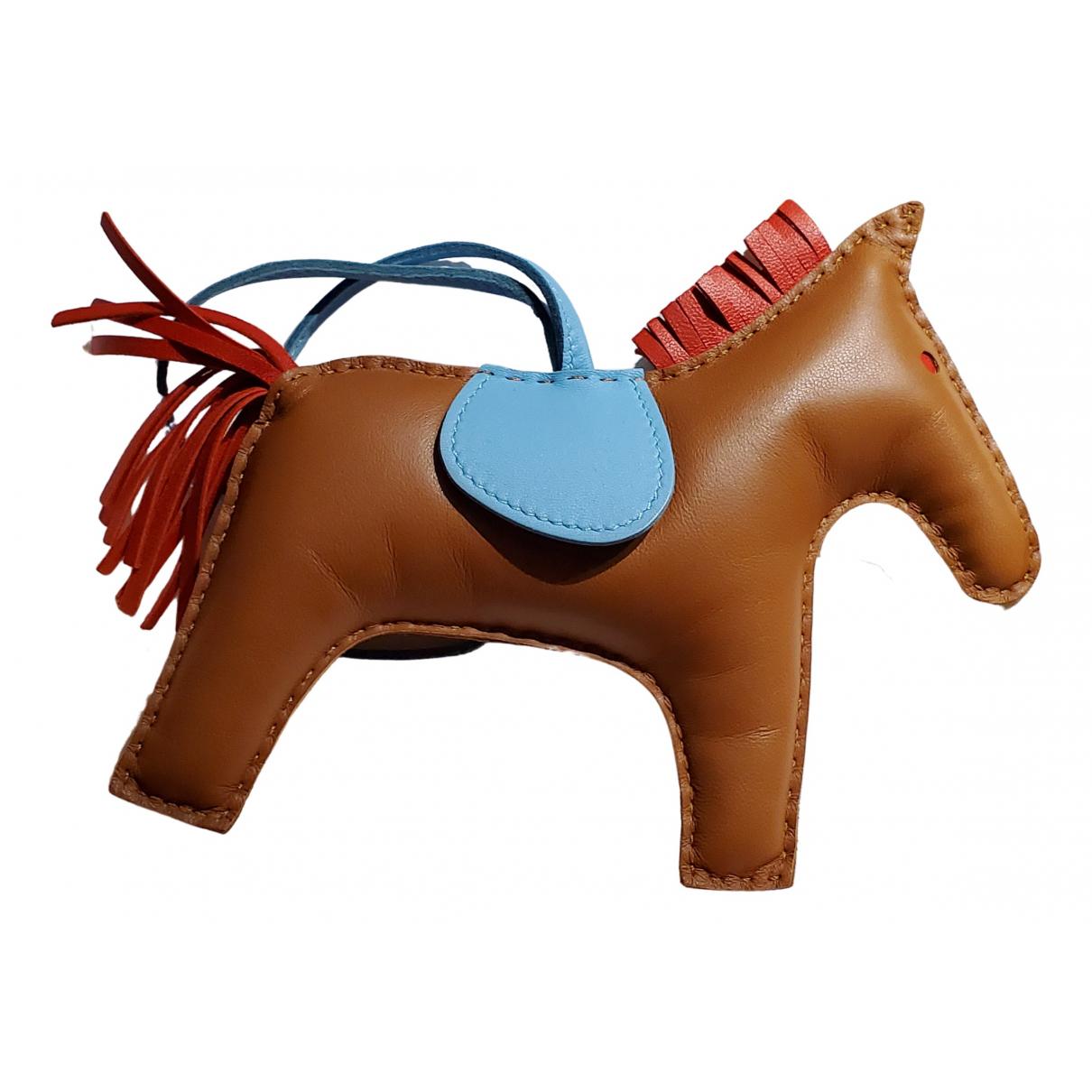 Hermes Rodeo Taschenschmuck in  Braun Leder
