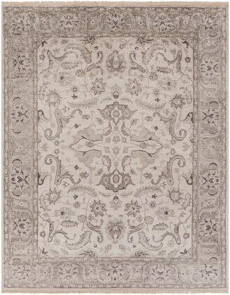 Theodora THO-3003 10' x 14' Rectangle Traditional Rugs in Medium Gray  Camel