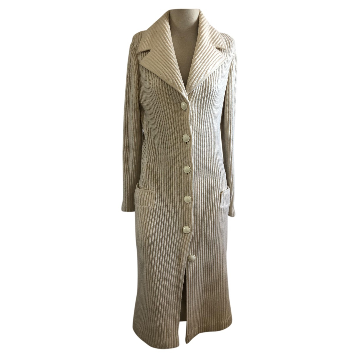 Versace - Manteau   pour femme en laine - beige