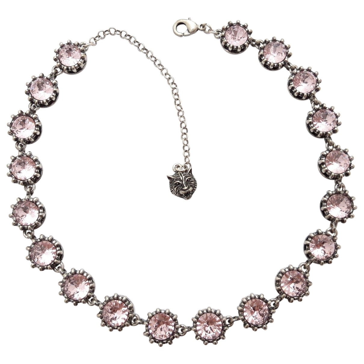 Non Signé / Unsigned Motifs Animaliers Pink Crystal necklace for Women \N