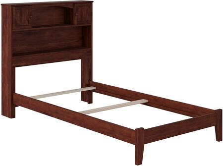 Newport Collection AR8511034 Twin Extra Long Size Bookcase Bed with 2 Raised Panel Doors  2 Shelves  Traditional Style  Low Profile Footboard